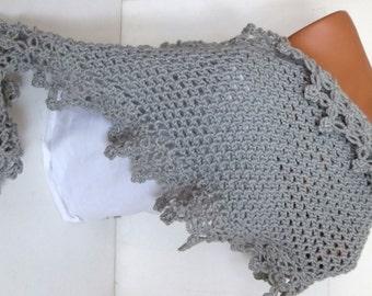 Discount Sale,Hand Knit Scarfs,Scarf grey, woman scarf. Personalized Design. Latest Fashion. scarf, neckwarmer, scarflette...