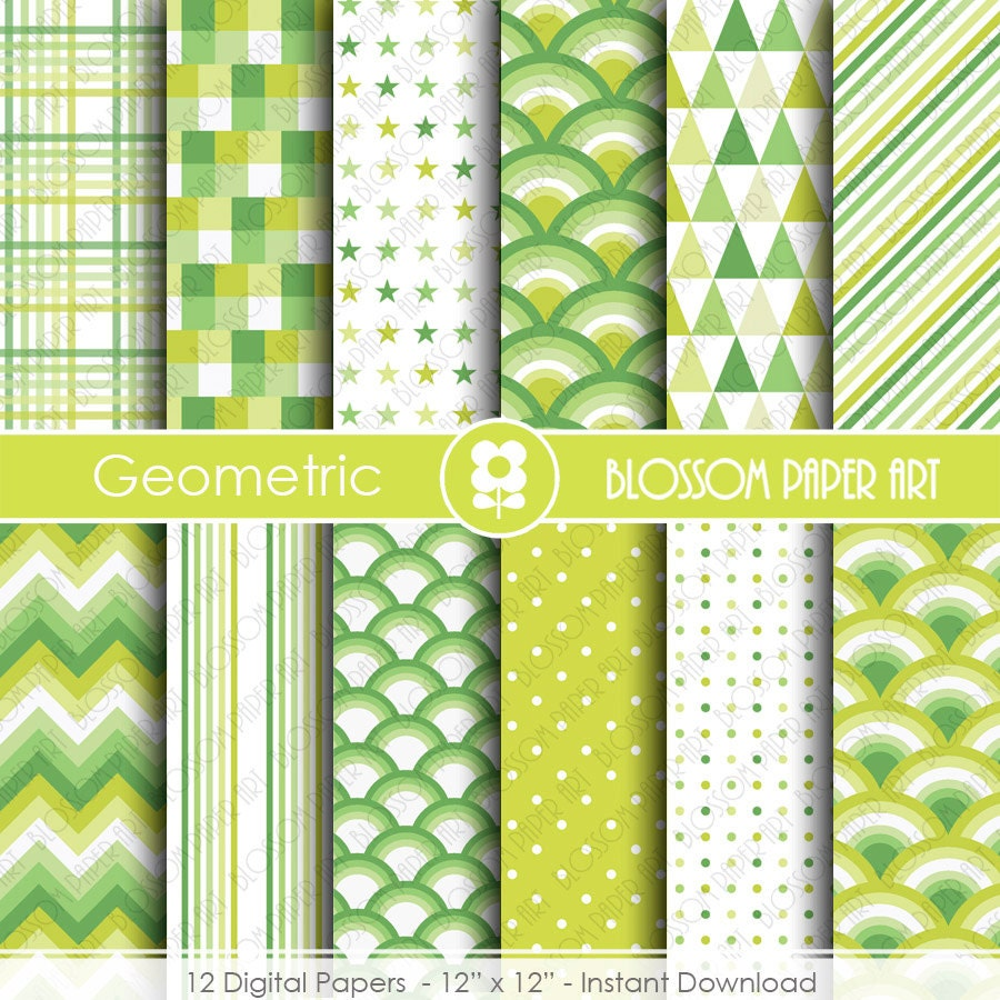 Papel Digital Verde Limon Papel Decorativo Scrapbook Papeles