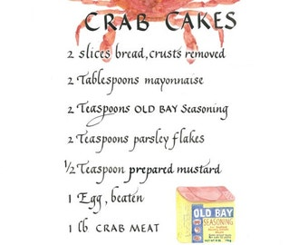 5x7 Maryland CRAB CAKES