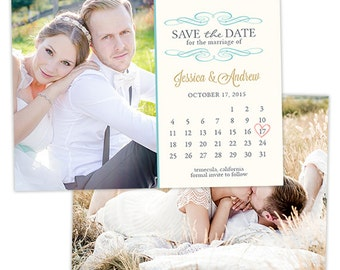 Save the Date Card Template for Photographers Engagement Photoshop Templates for Photographers Photo Card Template  - SD117