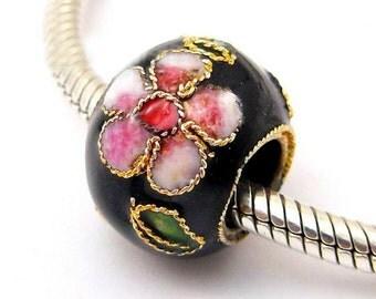 Cloisonne Large Hole Bead for European Style Charm Bracelets