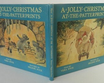 Vintage Children's Book, A Jolly Christmas at the Patterprints, 1971,  Parents' Magazine Press, NY, Very Good,