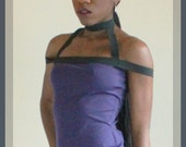 Purple Halter Top, Strapped Top, Harness Top, Alternative Clothing, Cynt D B