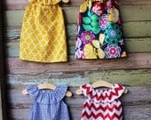 Girls Beach Dress, Red Chevron, fourth of july, Yellow, Blue Greek, summer, size 6 months 12, 18 months 2t 3t 4t 5t,6,7/8,9/10, coordinating