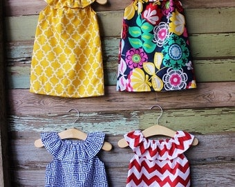 Girls Beach Dress, Red Chevron,Greek Key Fabric, Coordinating, summer, size 6 months 12, 18 months 2t 3t 4t 5t,6,7/8,9/10, coordinating