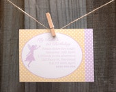 Printable Fairy Party Invitation - Pink and Yellow