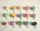 Geometric Natural Wood Beads,Choose your color Do it Yourself Geometric necklace