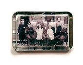 CUSTOM Heirloom Family Photo Glass Paperweight - Anniversary Family Tree - Your Photo Here