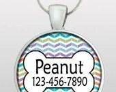 Pet Tag - Pet ID Tag - Pet I.D. - Dog Name Tag - Unique Chevron Dog Tag - Dog ID Tag - Dog Tag for Dogs - Hand Made Pet Tag - Design No. 287