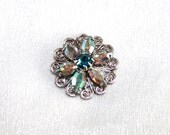 Sparkling Swarovski flower filigree (crystal sew-on component 22mm)