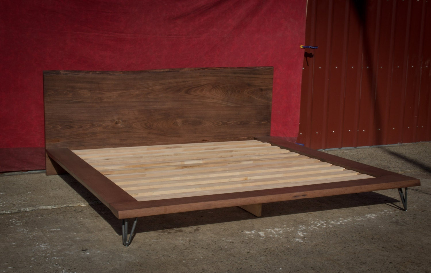Platform bed frame king size bed solid wood bed frame live Platform king bed