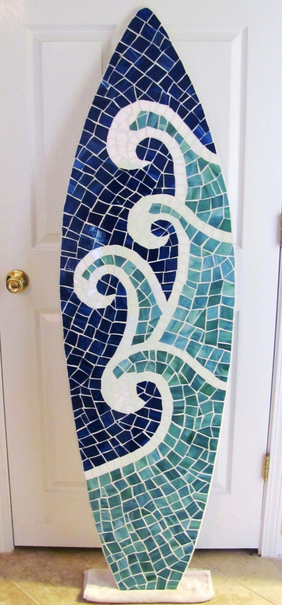 Wood Mosaic Surfboard Wall Hanging Surfboard By