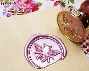 Buy 1 Get 1 Free -  1 pc Lovely Bee Gold Plated - Handmade retro gifts Wax Seals Stamp Wax Seal(WS06)