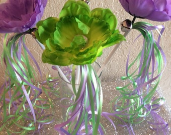 Tinkerbell Fairy Wands, Tinkerbell Party Favors, Purple Fairy Wands, Purple Fairy Wands, Princess Wands, Tinkerbell Birthday Favors