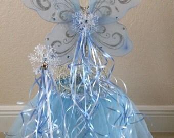 Frozen Costume, Elsa Frozen Tutu, Elsa Frozen Costume, Frozen Elsa Costume, Frozen Wings, Fairy Tutu, Fairy Costume, Tinkerbell Costume