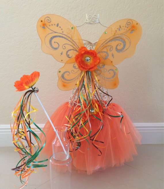 Items similar to Orange Tutu, Tinkerbell Costume, Fawn ...