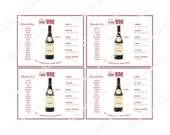 The Gallery For Gt Wine Tasting Score Cards