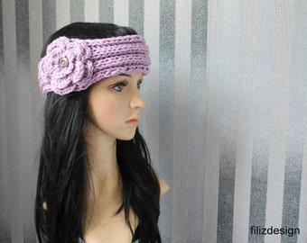 """Headband,Vintage Style in """" Lilac """""""