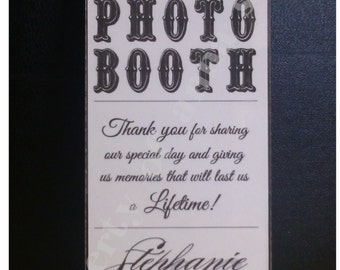PHOTOBOOTH Frame Insert - Vintage Theme Moustache Wedding Photo Booth Frame Insert - Customized with your theme, colors, fonts, etc