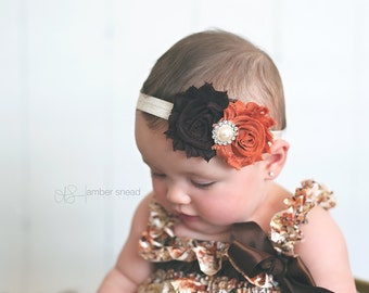 Baby Headband, Fall Headband, Thanksgiving headband, newborn photo prop, infant headband, First thanksgiving, baby accessories