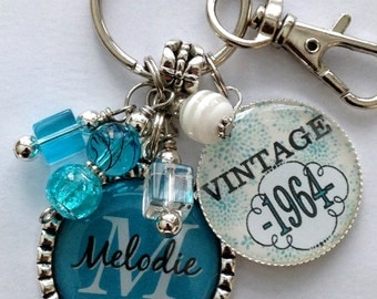 birthday gift keychain vintage personalized name mother sister aunt ...