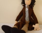 Hand knitted Doctor Who character, Paul McGann the 8th Doctor