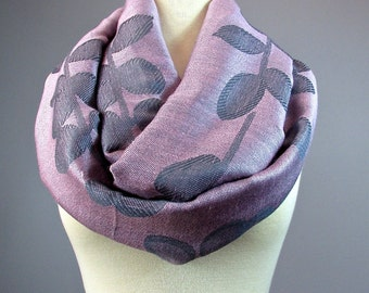Dusty  Pink scarf, floral  scarf,  loop scarf, women accessories, gift for her