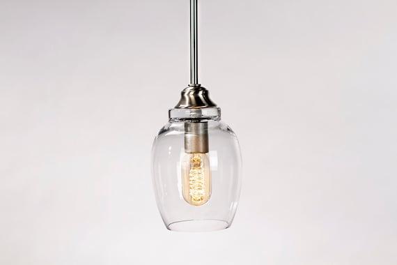 pendant light fixture edison bulb small lotus by dancordero. Black Bedroom Furniture Sets. Home Design Ideas