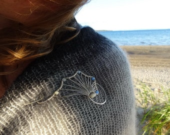 Shellscapes Shawl Pin (3 colors) - Sterling Silver Memories of the Sea...
