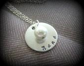 personalized nana necklace nana pendant nana charm necklace nana pearl necklace nana gift gift for grandma new grandma gift under 30