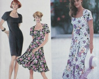 Flared or Slim Dress Sewing Pattern Simplicity 7818