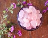 Polished A Grade Rose Quartz Tumbled Gemstone for Love, Relationships, Heart Chakra, Healing Crystals Reiki Spiritual Meditation Altar Stone