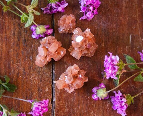 Aragonite Cluster Gemstone Sputnik esemplare arancione cristallo grezzo guarigione meditazione Wire Wrapping gioielli Supply