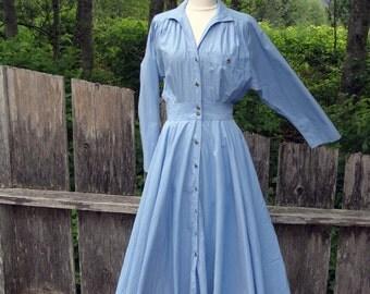 80's Liz Claiborne Snap Front Dress