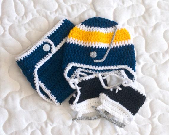 BABY HOCKEY HAT Helmet Diaper Cover and Skates Boys by ...