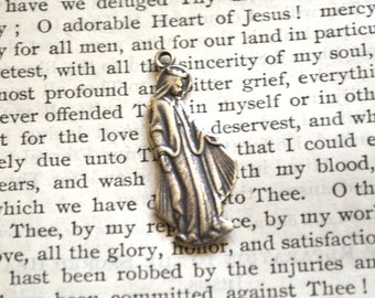 Miraculous Medal - Mary - Blessed Mother Medal - Vintage Replica - Sterling Silver - Made in the USA