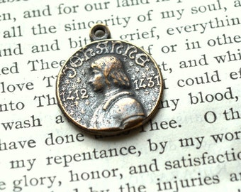 St. Joan of Arc - Religious Medal - Catholic Medal - Vintage Replica - Made in the USA (M-1076)