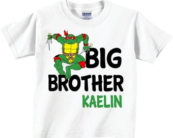 Big Brother Shirts for Boys, Personalized Big Brother Shirts