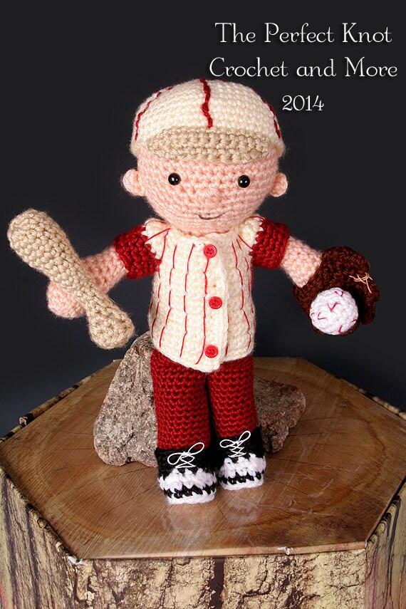 Pdf Crochet Pattern My First Baby Little Boy Blue Baseball