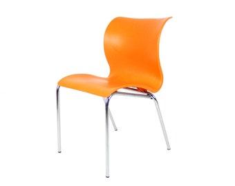 Items Similar To Vintage High Back Slim Line Orange Wing