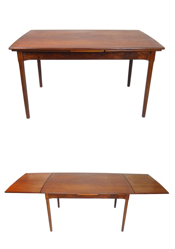 Danish modern expandable teak dining table by stonesoupology - Scandinavian teak dining room furniture design ...