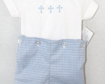 Baby Boy Baptism Outfit   Baby Boy Christening Outfit   Baby Boy Baptism Romper   Toddler Boy Baptism Outfit   Baby Boy Blessing 291907