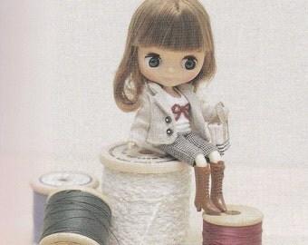 Petite Blythe Mini Pullip 11cm Doll Dress, Pants, Shirt, Skirt, Jacket, Bloomers, Vest Tulle, Socks & Tote Bag lot pdf E PATTERN in English