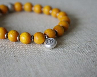 Yellow Kisii bracelet //