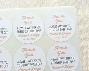 Wedding Candy Buffet Bar Favors Bag Seals Stickers