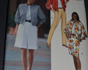 Butterick 6169  Misses  Jacket Top Skirt Shorts and Pants Sewing Pattern - UNCUT - Sizes 6 8 10