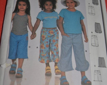 Burda 9890 Girls Pants Sewing Pattern - UNCUT - Size 2 - 6