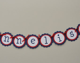 Nautical Name Banner Nautical party Anchors and Crabs