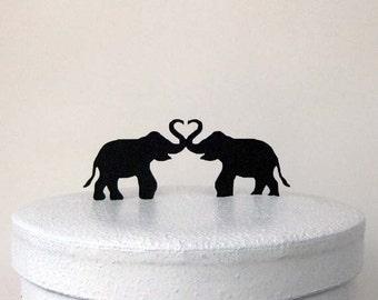 Wedding Cake Topper - Two Elephants, Elephant Wedding Cake topper