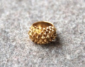 3D print statement gold ring Studs Bolder